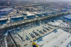 Il gruppo di automobile compera in Tjumen' La Russia Fotografia Stock Libera da Diritti