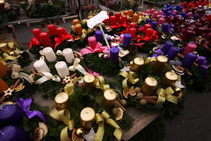 Il gruppo di candela di Natale Immagine Stock