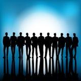 Il gruppo di gente di affari rappresenta il concetto di lavoro di squadra Fotografie Stock