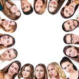 Il gruppo di gente differente forma una struttura immagine stock libera da diritti