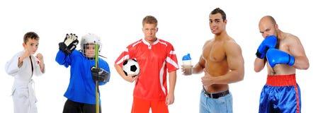 Il gruppo di grandi atleti Fotografie Stock Libere da Diritti