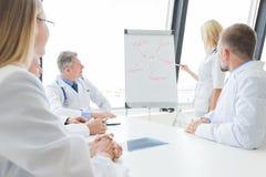 Il gruppo di medici discute la salute mentale fotografie stock