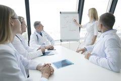 Il gruppo di medici discute la salute mentale fotografia stock libera da diritti