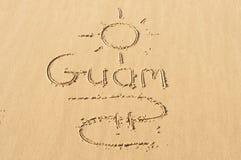 Il Guam nella sabbia Immagine Stock Libera da Diritti