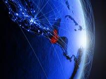 Il Guatemala su terra digitale blu blu immagini stock libere da diritti