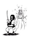 Il guerriero e la regina (2007) Immagine Stock