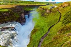Il Gullfoss sul fiume di Hvitau Immagini Stock