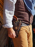 Il Gunfighter è pronto a disegnare Fotografie Stock Libere da Diritti