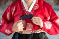 Il Hanbok variopinto, vestito tradizionale coreano Fotografia Stock Libera da Diritti