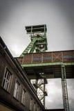 Il headframe della miniera Georg in Willroth, Germania Fotografia Stock Libera da Diritti