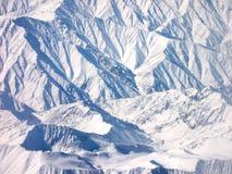 Il Hindukusch dall'aeroplano Fotografia Stock