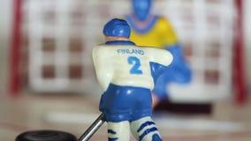 Il hockey su ghiaccio Finlandia di attacco segna il disco archivi video