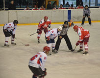 Il hockey su ghiaccio Russias Team Big Red Machine gioca ancora Fotografia Stock