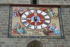 Il horologe della chiesa Immagini Stock