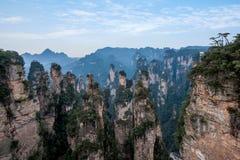 Il Hunan Zhangjiajie Forest Park nazionale, il ` magico della riunione del vecchio della casa ` del campo alza Immagini Stock Libere da Diritti