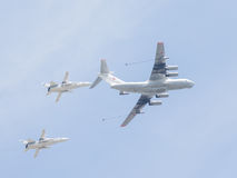 IL-78 i dwa Su-24 Obraz Royalty Free