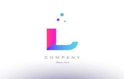 il i l  creative pink blue modern alphabet letter logo icon temp Royalty Free Stock Image