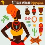 Il Infographic & i simboli delle belle donne Illustrazione di Stock