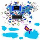 Il Internet di tecnologia di notizie. Ambiti di provenienza Immagine Stock Libera da Diritti
