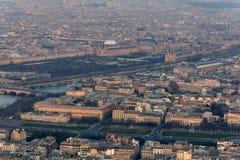 Il Invalides ed il Louvre Fotografia Stock Libera da Diritti