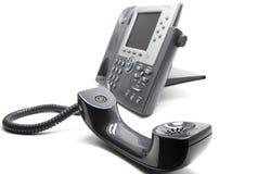Il IP telefona con il receiever sulla parte anteriore Fotografia Stock Libera da Diritti