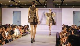Il italiana di Accademia team in su f.fashion Immagine Stock