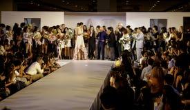 Il italiana di Accademia team in su f.fashion Fotografie Stock Libere da Diritti