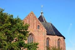 Il Jacobuskerk in Zeerijp, provincia di Groninga Fotografia Stock