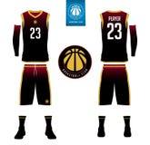Il jersey di pallacanestro, shorts, colpisce con forza il modello per il club di pallacanestro royalty illustrazione gratis