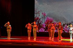 Il Jiangxi d'istruzione di classificazione di mostra di risultato dei bambini della prova dell'accademia di ballo di Pechino dei  Fotografie Stock