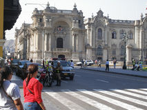Il Jiron de la Union Street a Lima, Perù Fotografia Stock