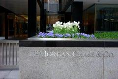 Il JP Morgan Chase Blooms Fotografie Stock Libere da Diritti
