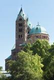 Il Kaiserdom a Speyer Germania di estate Immagini Stock Libere da Diritti
