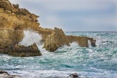 Il-Kalanka Bay, Malta. Rocky coast formed Il-Kalanka Bay. The island Malta Stock Photography
