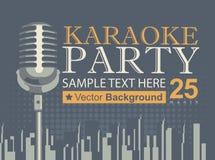 Il karaoke fa festa sopra la città moderna royalty illustrazione gratis