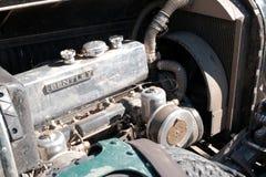 Il Kazakistan, Kostanay, 19-06-19, il motore di retro automobile d'annata Bentley Raduni Pechino a Parigi immagine stock libera da diritti