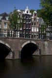 Il Keizersgracht a Amsterdam Fotografie Stock Libere da Diritti