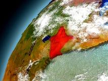 Il Kenya dall'orbita di Earth di modello Fotografie Stock