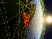 Il Kenya su pianeta Terra di reti immagine stock libera da diritti