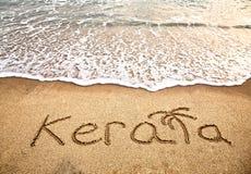 Il Kerala sulla spiaggia fotografia stock libera da diritti