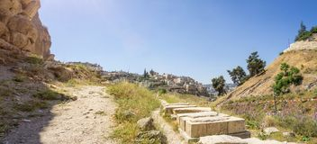 Il Kidron Valley a Gerusalemme, Israele Immagine Stock