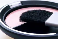 Il kit del rossetto arrossisce polvere Fotografia Stock