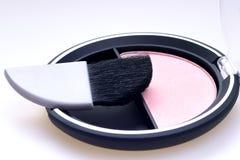 Il kit del rossetto arrossisce polvere Fotografia Stock Libera da Diritti