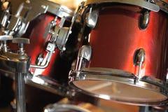 Il kit del tamburo dettagliato Fotografia Stock