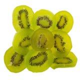 Il kiwi secco, kiwi candito conservato secco affetta lo zucchero immagine stock libera da diritti