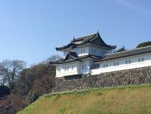 Il Kochi, Giappone - 26 marzo 2015: Vista generale del castello del Kochi dentro Fotografie Stock Libere da Diritti