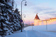 Il Kremlin a Kazan Fotografie Stock