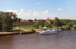 Il Kremlin in Novgorod Fotografia Stock Libera da Diritti