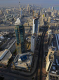 Il Kuwait dal cielo Fotografie Stock Libere da Diritti