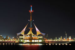 Il Kuwait: Onde del porticciolo Immagini Stock